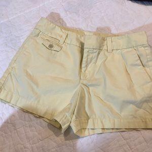 Ann Taylor Loft Shorts. Yellow. Size 6. EUC!